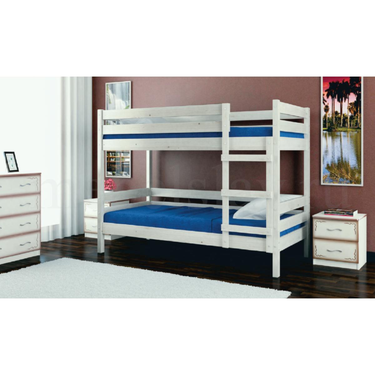 """Кровать """"Джуниор"""" дуб белый"""
