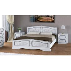 """Кровать """"Елена"""" белый жемчуг"""