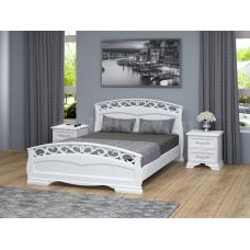 """Кровать """"Грация-1"""" античный белый"""