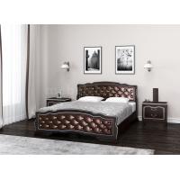 """Кровать """"Карина-10"""" Орех Тёмный, бриллиант"""