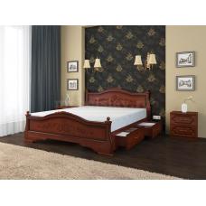 """Кровать """"Карина-1"""" орех, с ящиками"""