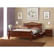 """Кровать """"Карина-5"""" орех, с ящиками"""
