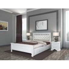 """Кровать """"Грация"""" античный белый с ящиками"""