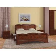 """Кровать """"Карина-8"""" Орех, с ящиками"""