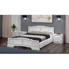 """Кровать """"Карина-6"""" Белый Жемчуг, с ящиками"""