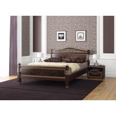 """Кровать """"Карина-5"""" Орех Тёмный с тонировкой"""