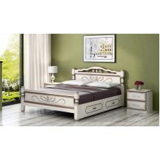 """Кровать """"Карина-5"""" дуб молочный, с ящиками"""