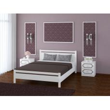 """Кровать """"Вероника-1"""" Белый Античный"""